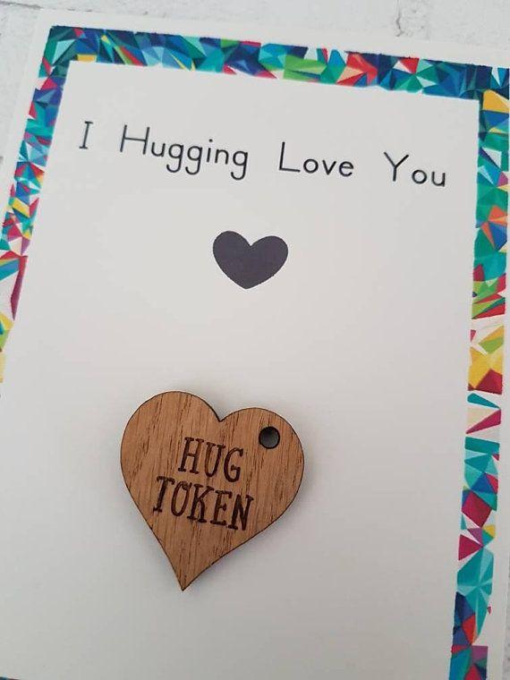 Hug Token Gift For Boyfriend Girlfriend I Love You Cuddles Hugs Birthday Valentines Snuggles Romance
