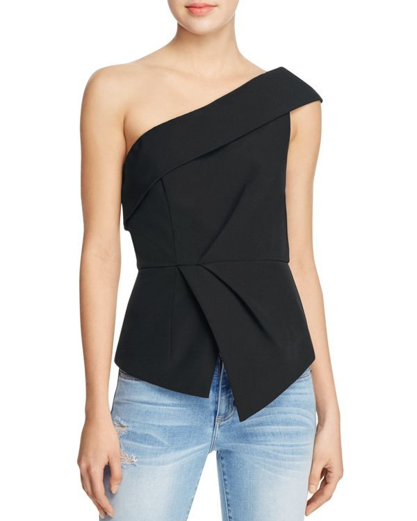 Nice taylored one-shoulder top but need it for the other shoulder.