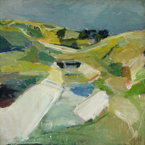 Richard Diebenkorn (April 22, 1922 – March 30, 1993) was an American painter. His early work is associated with abstract expressionism and the Bay Area Figurative Movement of the 1950s and 1960s. His later work (best known as the Ocean Park paintings) were instrumental to his achievement of worldwide acclaim. (Wikipedia)
