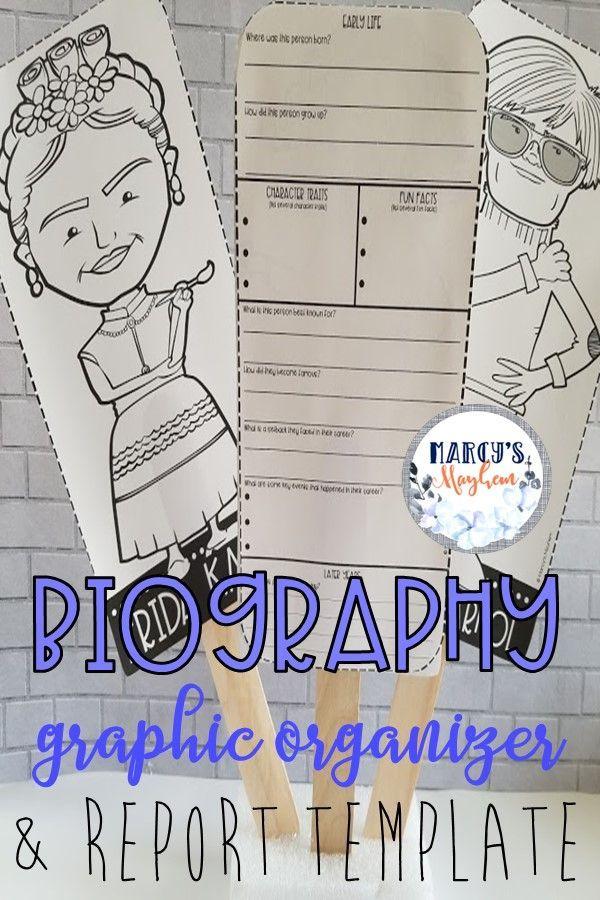 biography writing organizer for 3rd 4th grade  5th grade