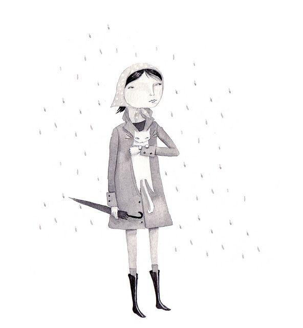 Gray rain by Julianna Swaney