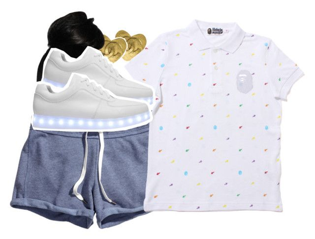 """""""ayo -Chris Brown and Tyga"""" by pretty-ambi ❤ liked on Polyvore featuring Chanel, H&M and Irregular Choice"""