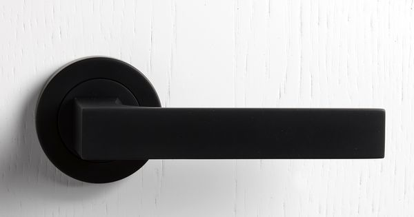 Liked on Pinterest: matt black door handle                                                                                                                                                                                 More