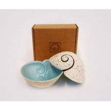 Boxed Spiral Bowl - Aqua or Green