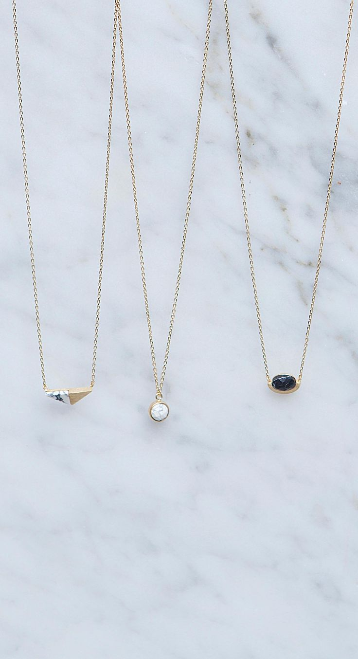 These Luxe Howlite necklaces are the epitome of understated glam - LANDING DECEMBER