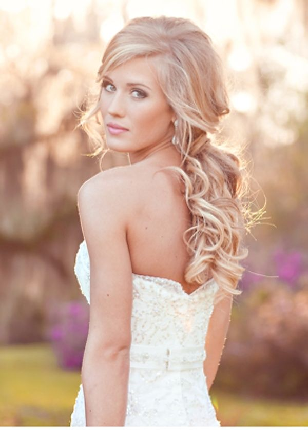 Gorgeous: Hair Down, Hair Ideas, Half Up, Long Hair, Bridal Hair, Hair Style, Bridalhair, Soft Curls, Wedding Hairstyles