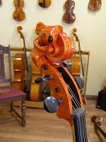 Occasionally at A. Cavallo Violin Shop we have customers come in who are interested in making/have made their own instruments.  Today was on...