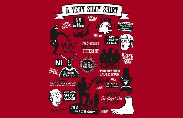 Monty Python Quotes T-Shirt Get yours here: http://tshirtonomy.com/go/monty-python-quotes