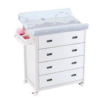 Bañera cambiador 4 cajones blancos King Baby cigüeña gris [700] | 141,00€ : La tienda online para tu peke | tienda bebe pekebuba.com