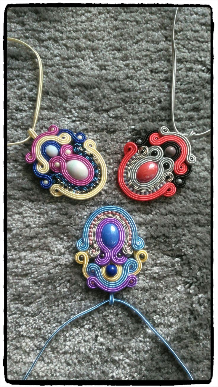 Colorfull soutache pendants 😊