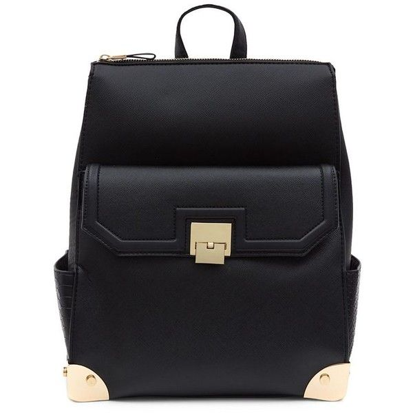 Black Pocket Front Formal Backpack