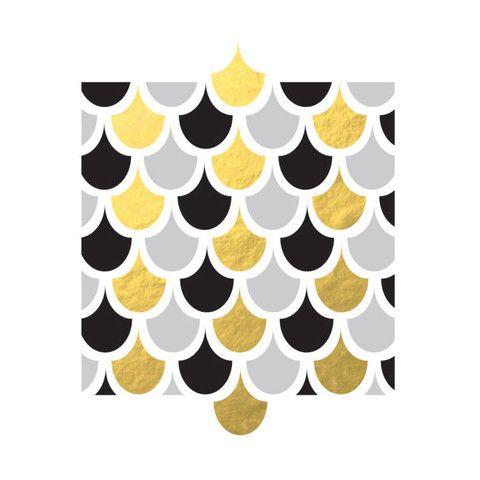 Gold foil Scallops Print
