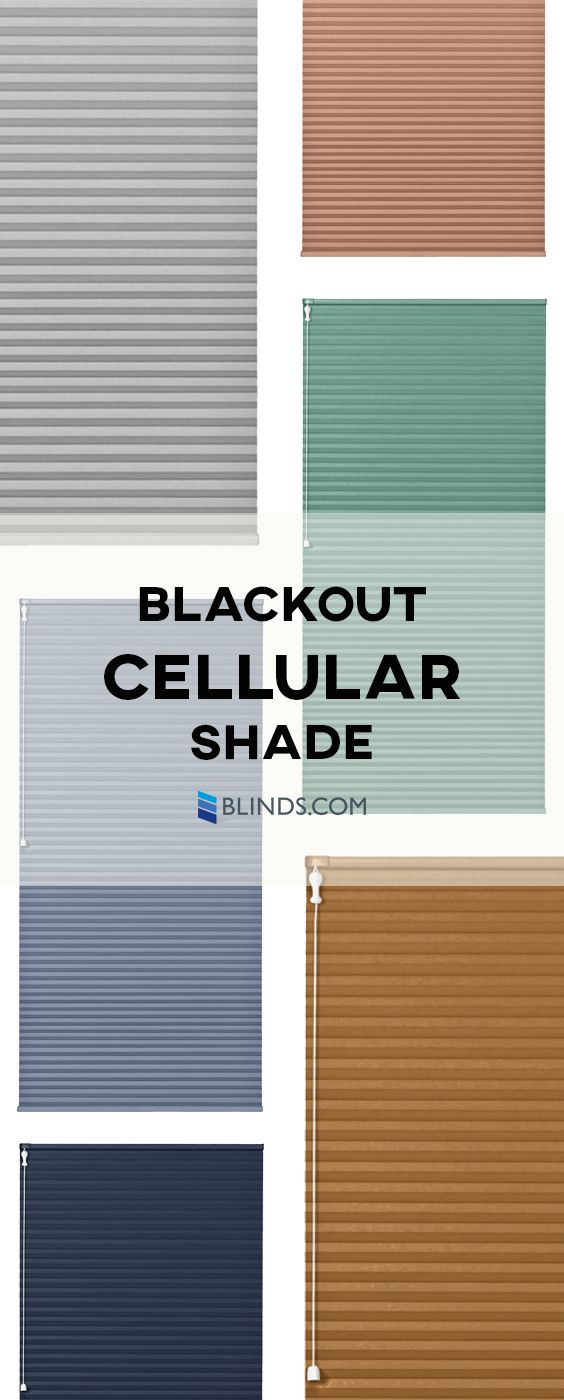 Blinds.com's Blackout Cellular Shades are our best-selling blackout cell shades. Their ability to completely block out external light makes them ideal for day sleepers, as well as a great choice for media rooms.
