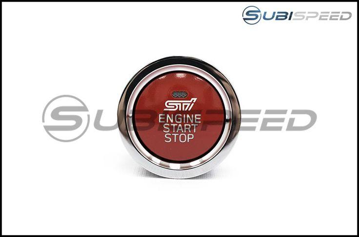Subaru STI Red JDM Push to Start Button with Status Light - 2015+ WRX / 2015+ STI / 2013+ BRZ / 2014+ Forester / 2013+ Crosstrek