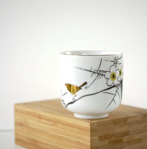 Vintage Teacup Japanese Plum Blossom Golden by TheOtherLifeVintage, $6.00