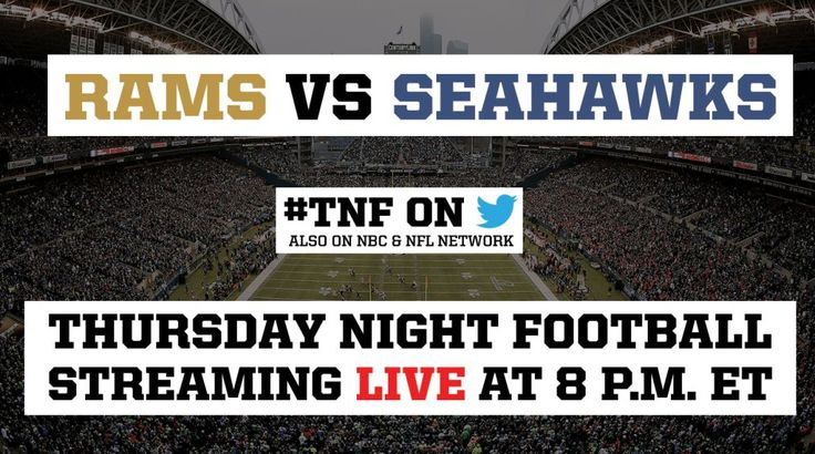 The Seattle Seahawks are hosting the Los Angeles Rams this week on Thursday Night Football. The matchup is one of several games being live-streamed on Twitter for the first time this season. In partnership with Twitter, you can watch the game on SI.com or right here on Time.com. The Seattle...