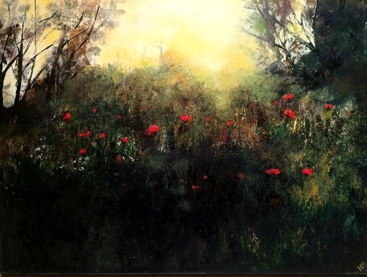 ARTFINDER: Poppies by Twilight by Kimberley  Harris