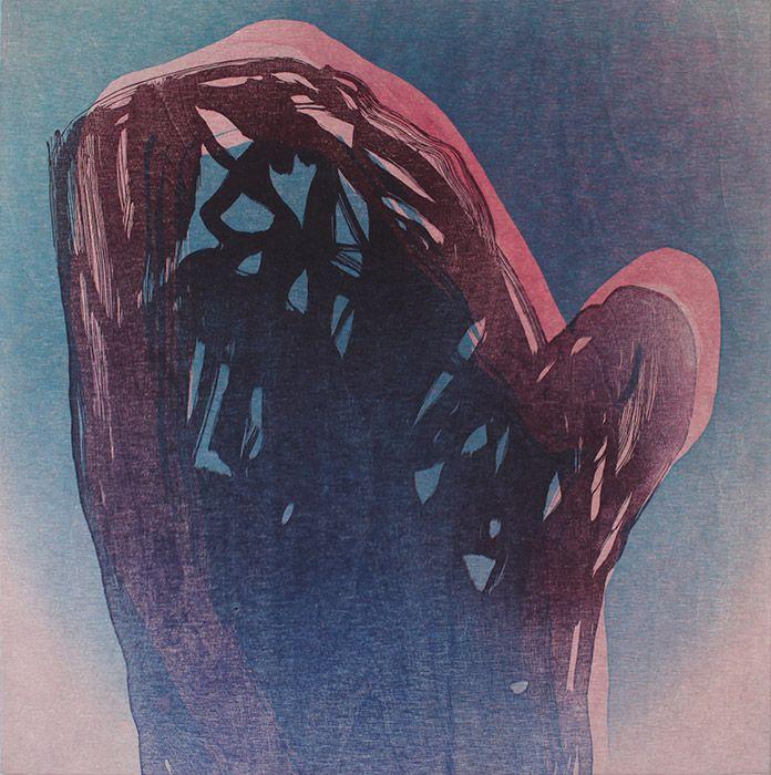 Ari Pelkonen   Ama Gallery  Hollow (grid), 60x60cm, 2015, woodcut and acrylics…