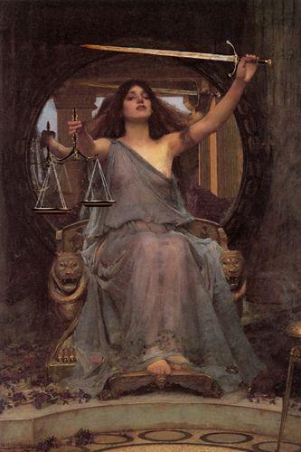 """Virtudes, Vícios E Pecados...  """"Senhora Justiça""""."""