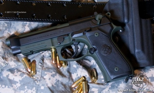 Beretta in black and combat green