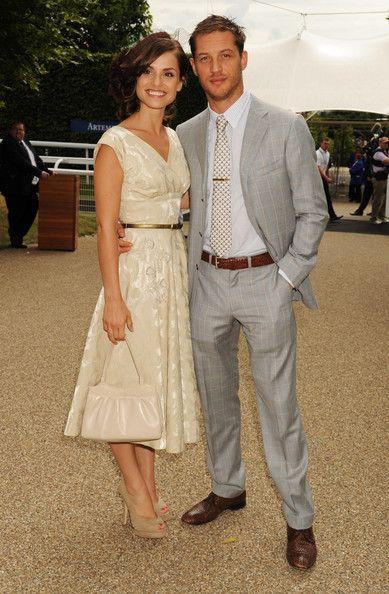 Tom Hardy and fiance Charlotte Riley