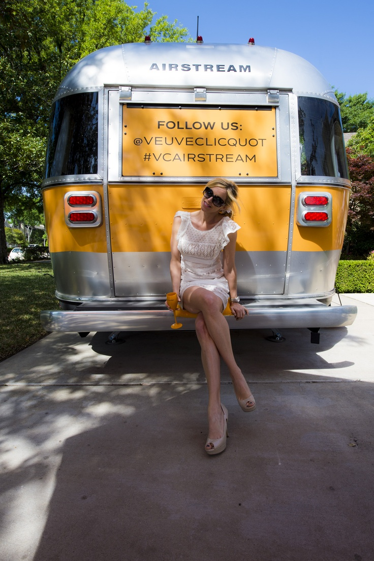 Veuve clicquote airstream tour in houston follows us airstream_inc veuve clicquot vcaistream