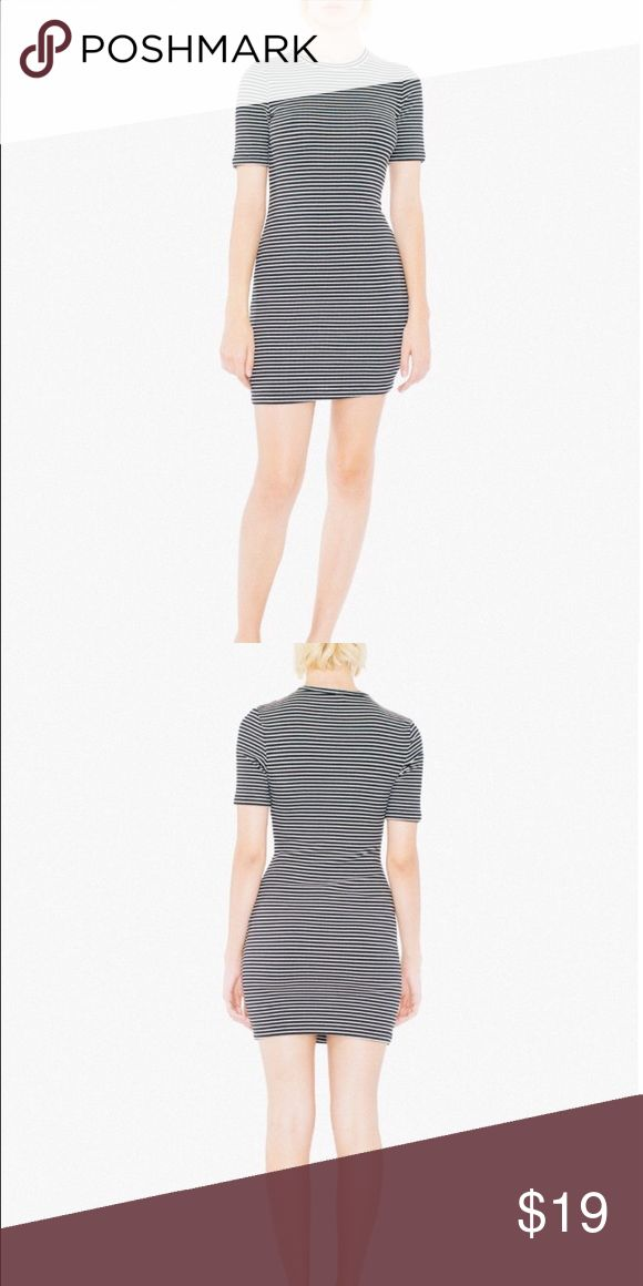American apparel ribbed tshirt dress Size L. Brand new. Didn't come with tags. Runs small as usual. Has stretch to them tho. Super cute with sweaters!! American Apparel Dresses Mini