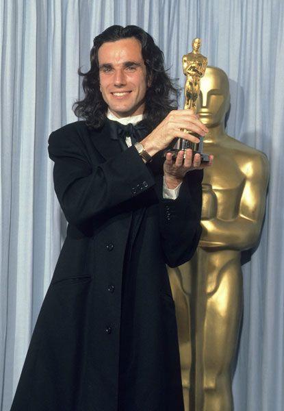 Oscar winner Daniel Day-Lewis for 'My Left Foot' backstage in 1990.