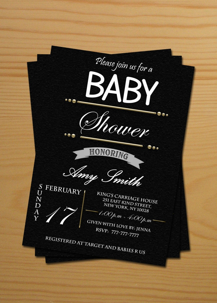 Black And White Baby Shower Invitations and get inspiration to create nice invitation ideas