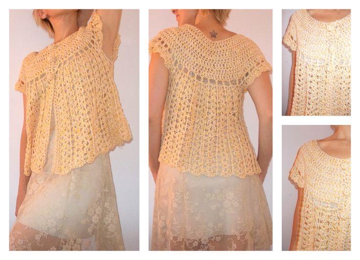 chaleco de hilo de algodón tejido al crochet