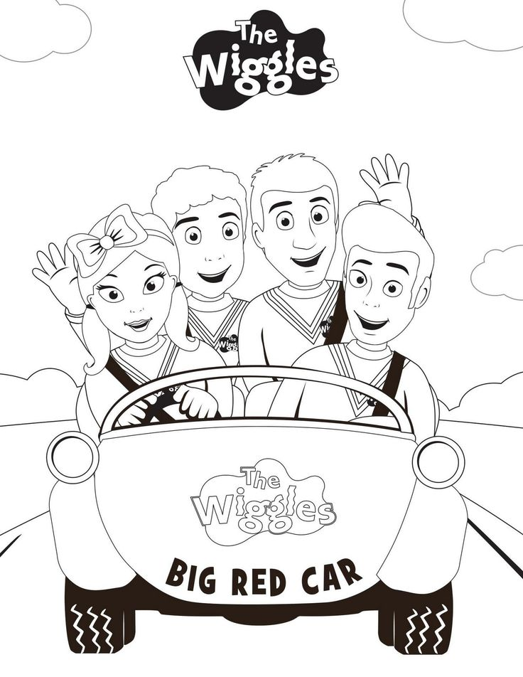 10 best wiggles coloring page collection images on Pinterest