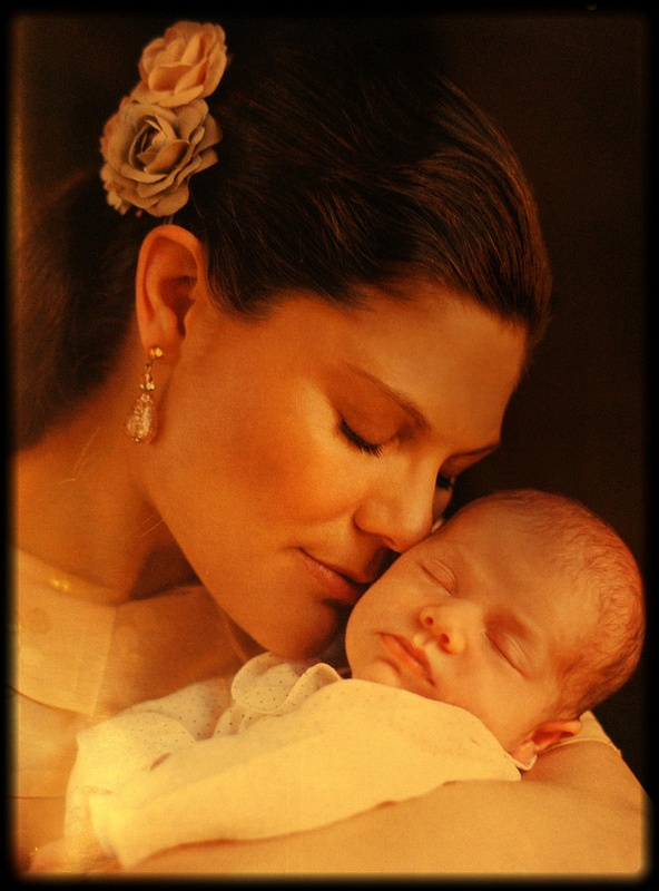 Crown Princess Victoria of Sweden with her daughter, Estelle