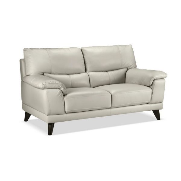 Braylon Loveseat Silver Grey Love Seat Contemporary Style Modern Luxury