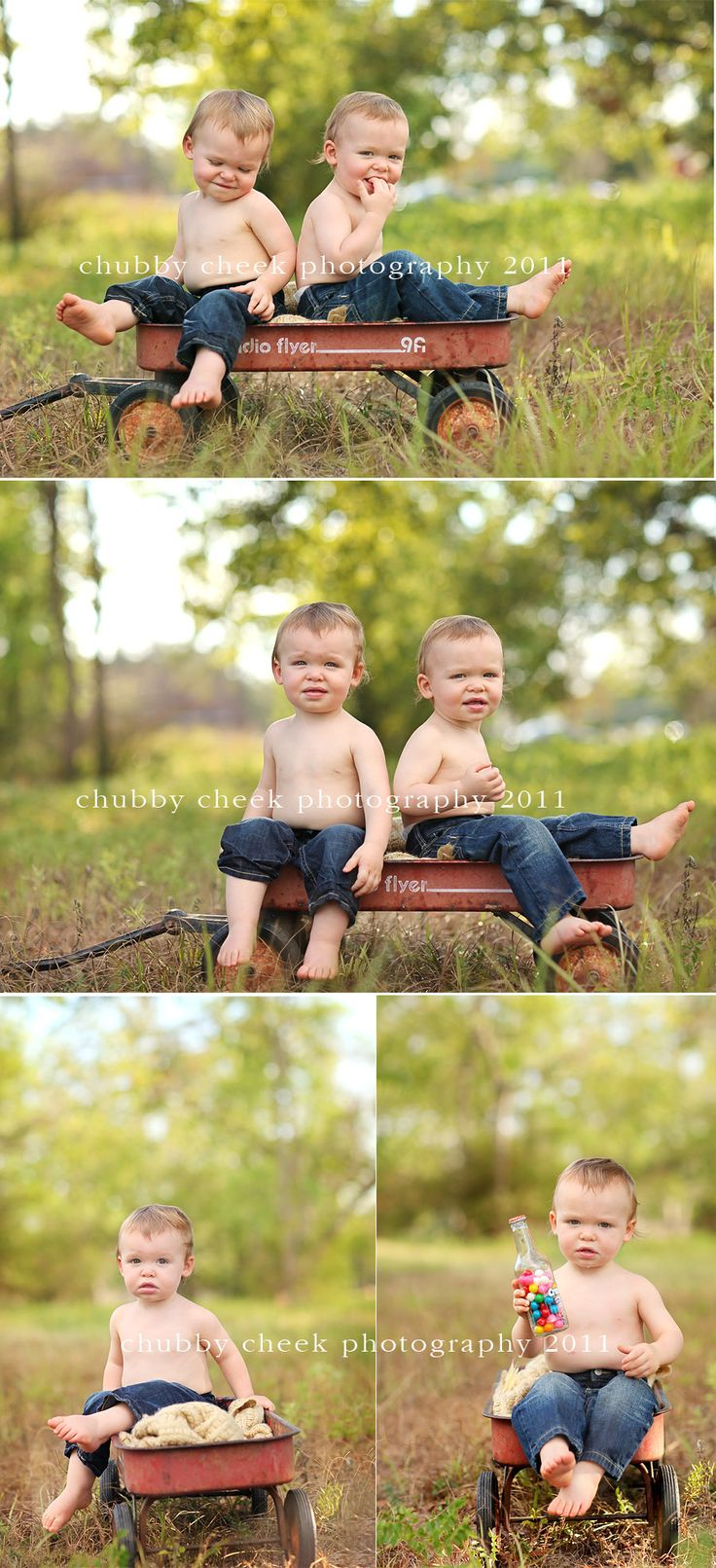 brothers ♥ This is such a cute idea! I must do! (: I want to do this...Raydon pulling the wagon Mikey and rylan inside