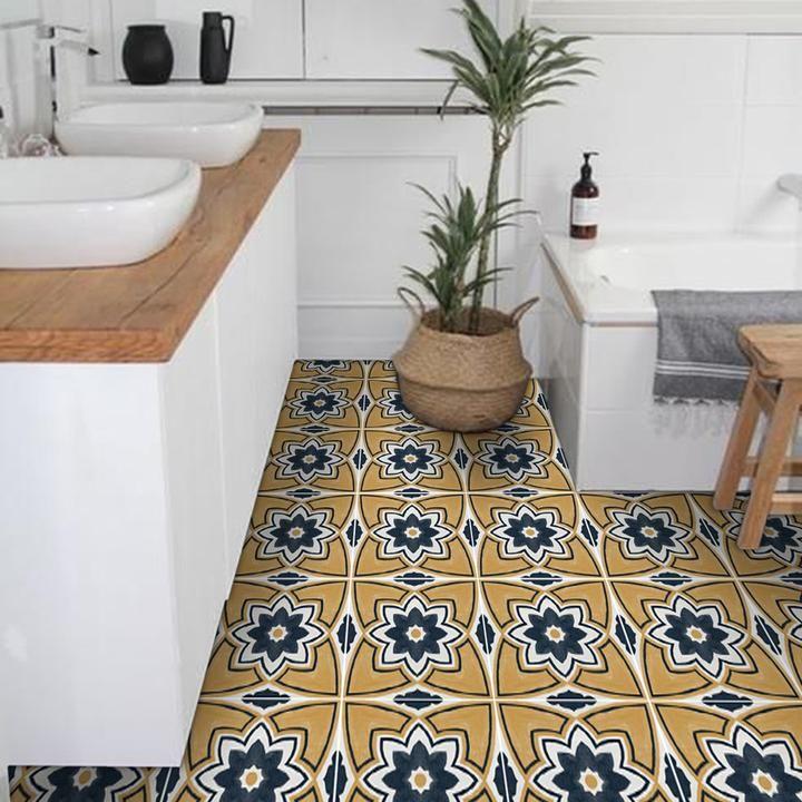 Sierra Floor Sticker Vinyl Tile Tile Decals Floor Decal