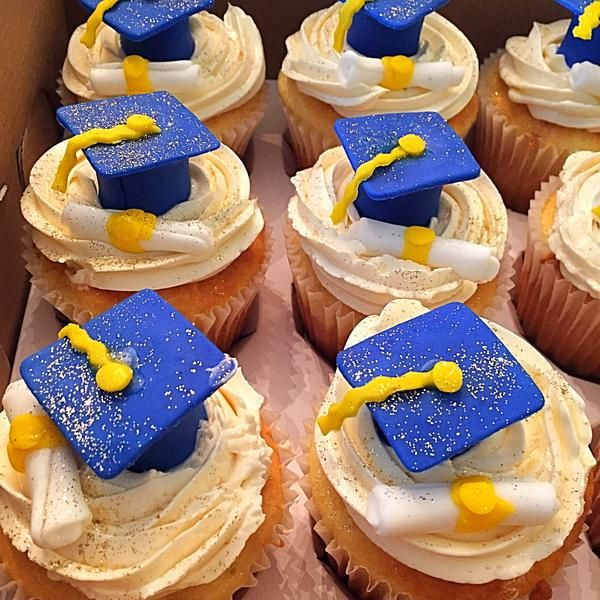 Celebrate the graduate in your life with our graduation cupcake boxes.  All cupcakes are made to order from our premium gourmet incredients.  The frosting, cap, and year can be customized using your grads school colors.  All cupcakes are fully customizable:  Delivery in Hampton RoadsWhen selecting a delivery date please allow at least 1 business day for processing Sunday delivery is not availableDelivery Outside of Hampton Roads-Delivery Available in Hampton Roads Only