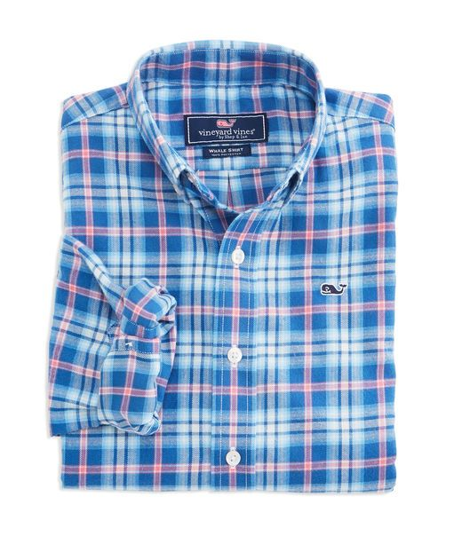 Don't let the cool weather slow him down! Soft, warm and fast drying our performance flannel boys whale shirt rules for outdoor activities.