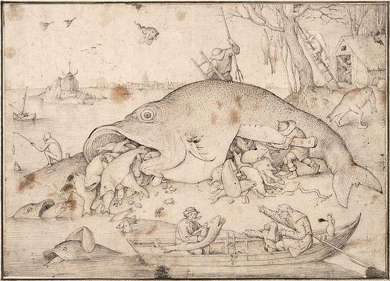 Pieter Bruegel the Elder - Big Fish Eat Little Fish - 1556: