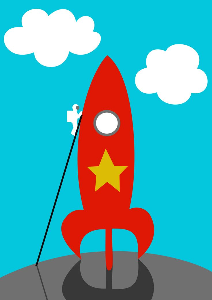 T-minus 10 minutes and counting as the astronaut boards the Flame Red Rocket by Geoff Smith for the #colour_collective!