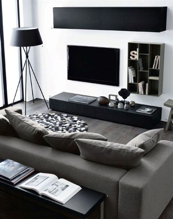 Modern Living Room Interior, Exclusive with Decorating Idea Set!