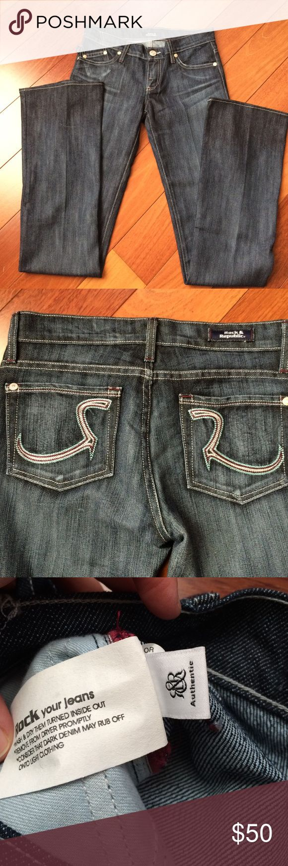 NWOT Rock and Republic Low Rise Flare Size 25 Inseam 34 inches, slight flare. Never worn, zero flaws. Best quality denim. Rock & Republic Jeans Flare & Wide Leg