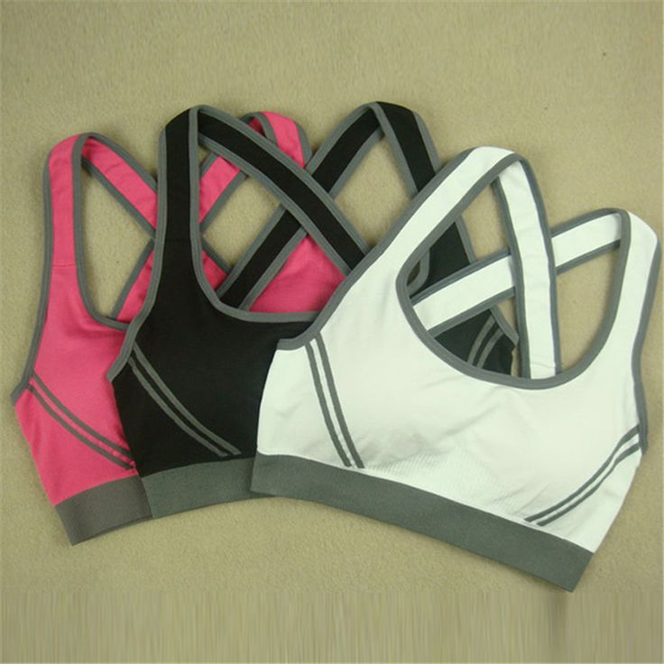 New Arrival Women Girl Stretch Athletic Sports Bras Sexy Tank Top Seamless Racer Back Fitness Bra