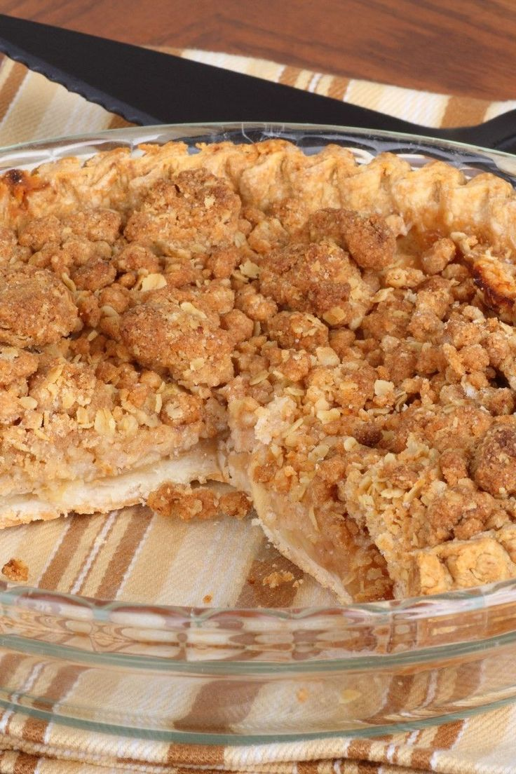 Dutch Apple Pie with Oatmeal Streusel RecipeApple Streusel Cake, Pies ...