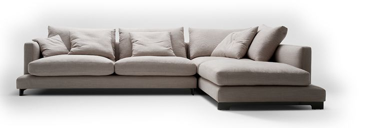 Carmerich lazytime sofa. The most comfy we tried. Down feathers. 110cm depth. Small l-shape. Can't wait. Doesn't arrive til April.