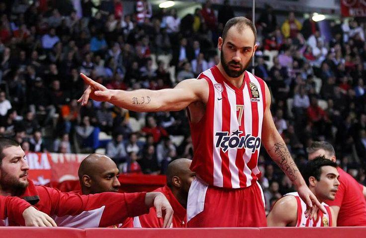 Σπανούλης Παίκτης Ολυμπιακού  Spanoulis Olympiakos basketball player