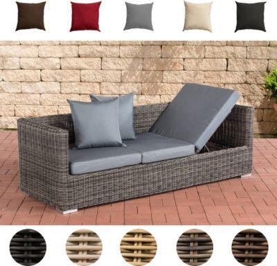 Poly-Rattan Lounge-Sofa SOLANO 5 mm, ALU-Gestell, 3 er Sofa / Sonnenliege Jetzt bestellen unter: https://moebel.ladendirekt.de/garten/gartenmoebel/loungemoebel-garten/?uid=5abb169f-346a-5d8e-89e6-93e89534dc31&utm_source=pinterest&utm_medium=pin&utm_campaign=boards #loungemoebelgarten #garten #gartenmoebel