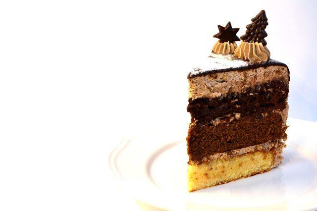 Um trio irresistível de baunilha, chocolate e café!  An irresistible trio of vanilla, chocolate and coffee!         Ingredientes:  (bolo de ...