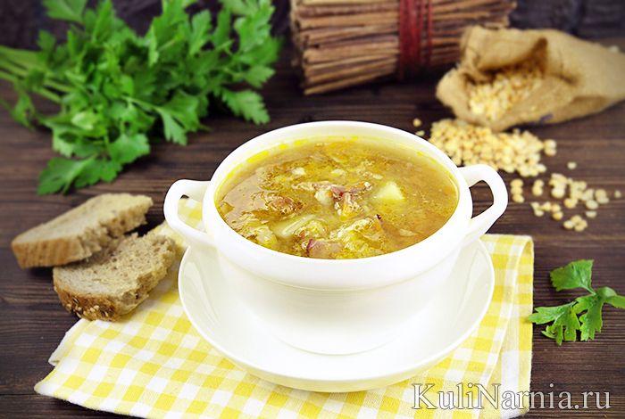 Гороховый суп с копченостями приготовление