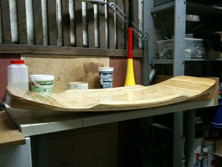 My third DIY Wakeskate. Poplar & Beech