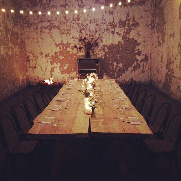 Pop up restaurant called Slow Bateau designed for Chefs Max Chow and Paula Carvajal 4/13/13 in Los Angeles,ca.   Photo by brynmooser Interesting before it even starts with this decor! PopUp Republic